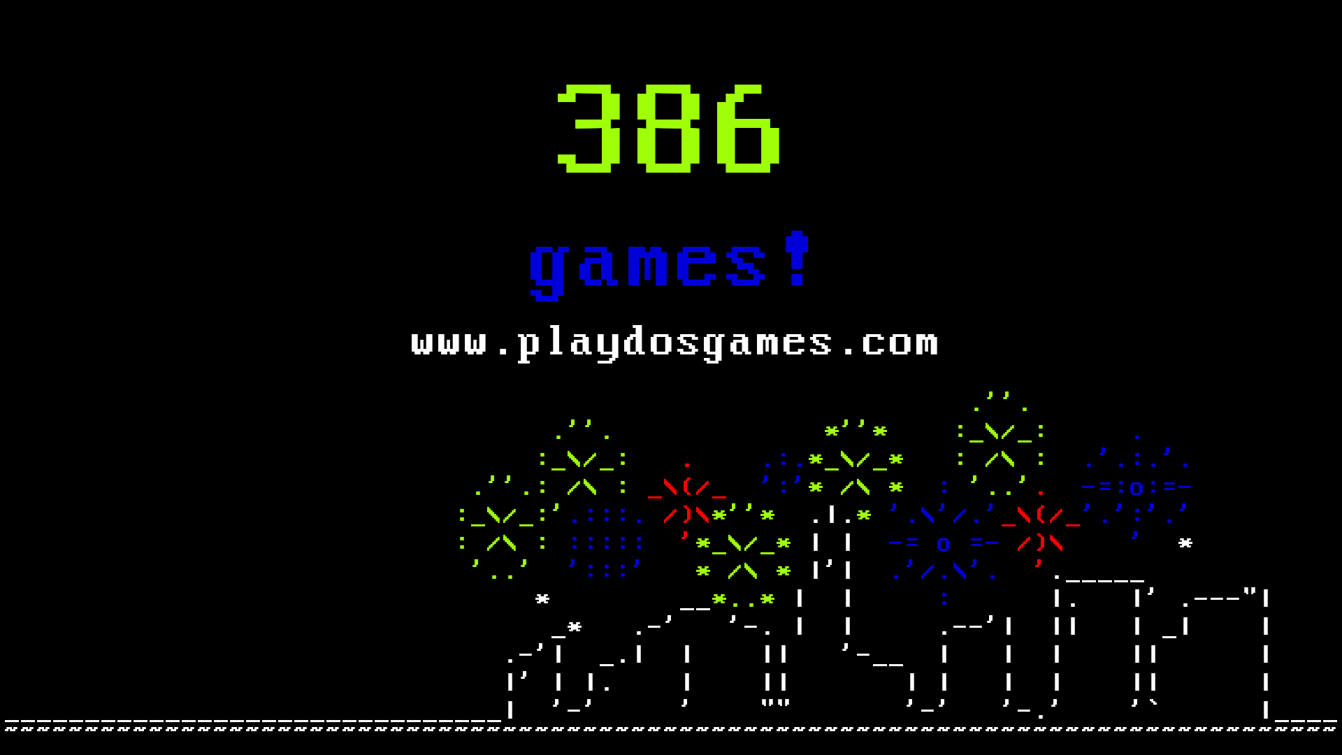 386 games at www.playdosgames.com