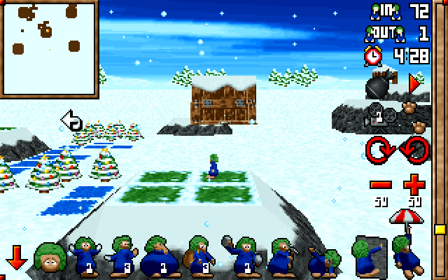 3D Lemmings Winterland screenshot 1
