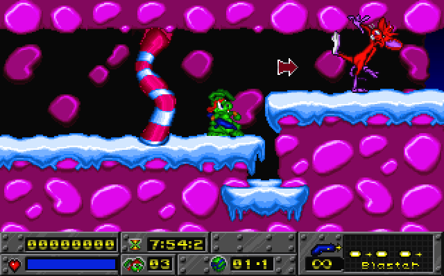 Jazz Jackrabbit Holiday Hare screenshot 1