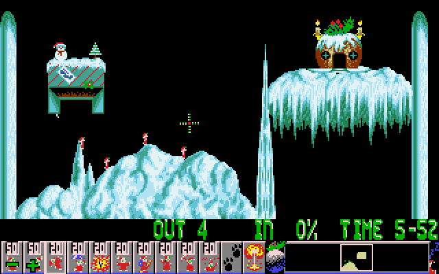 Lemmings Holiday Edition 1993 screenshot 2