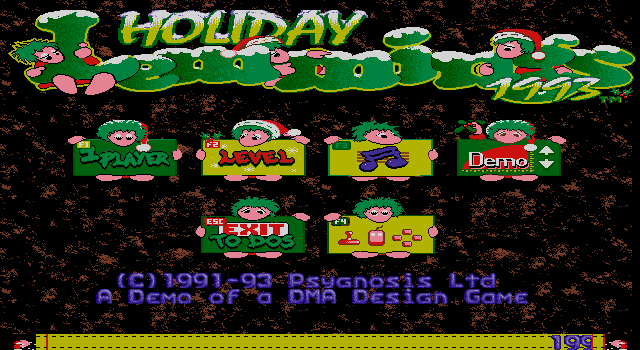 Lemmings Holiday Edition 1993 screenshot 3
