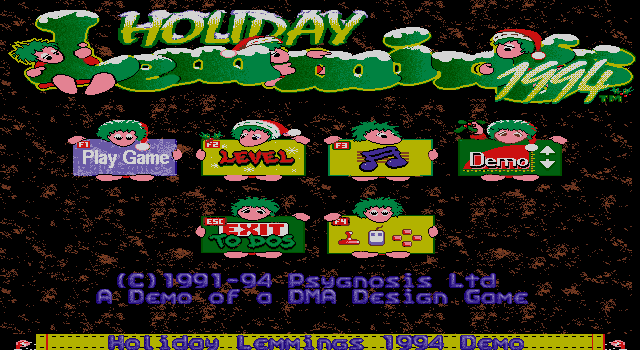 Lemmings Holiday Edition 1994 screenshot 3