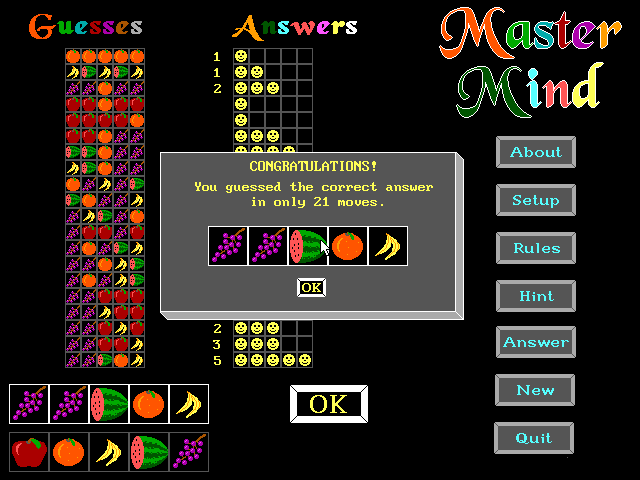 Master Mind screenshot 1