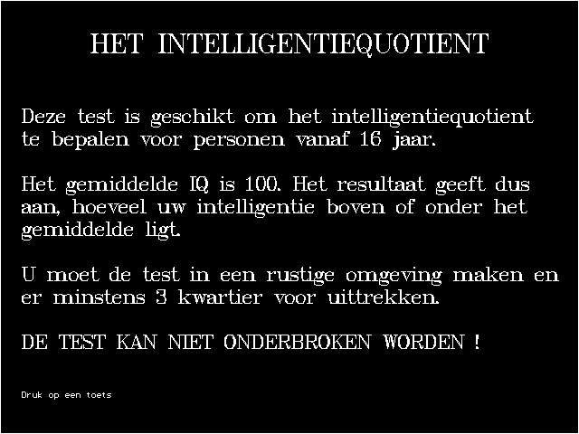 Test uw intelligentie screenshot 2