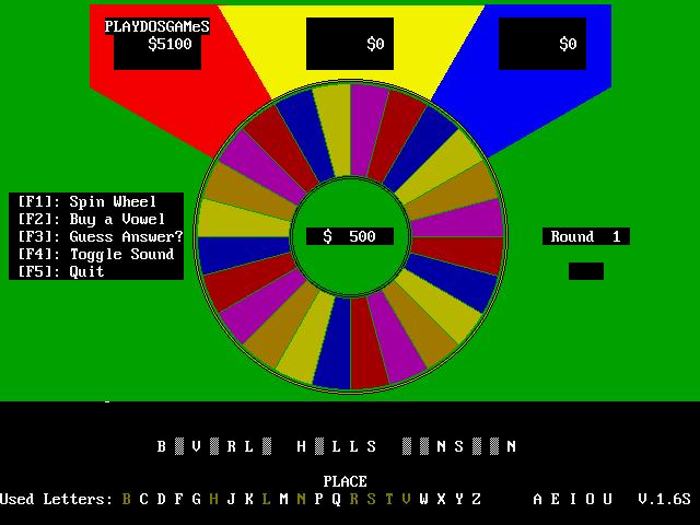 VGA Wheel screenshot 1