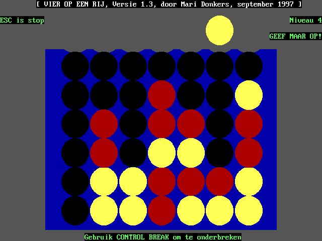 Vier op een Rij screenshot 1