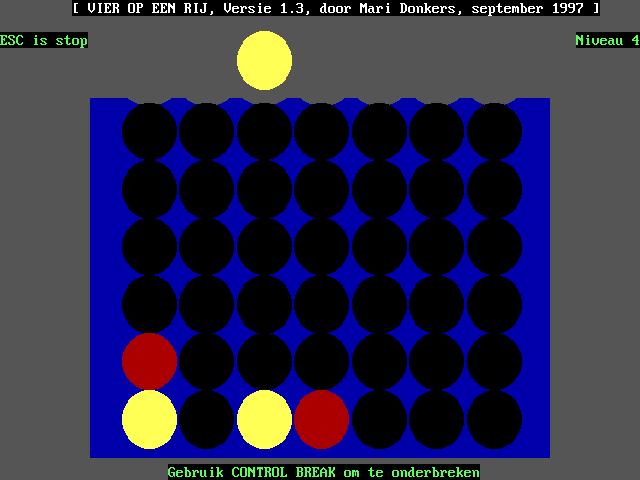 Vier op een Rij screenshot 2