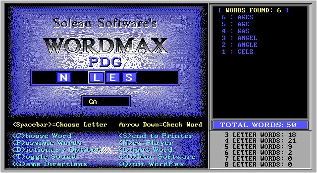 Wordmax screenshot 2