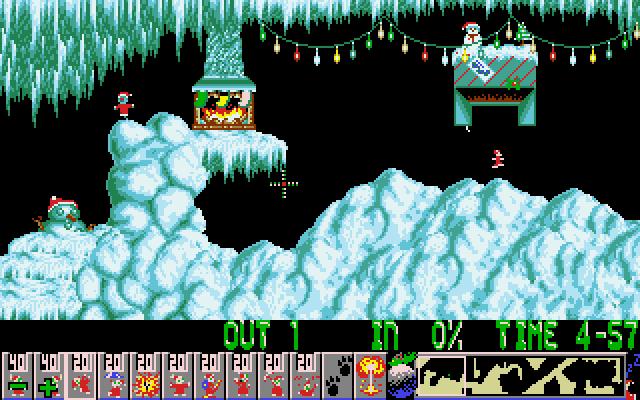 Xmas Lemmings 1991 screenshot 1