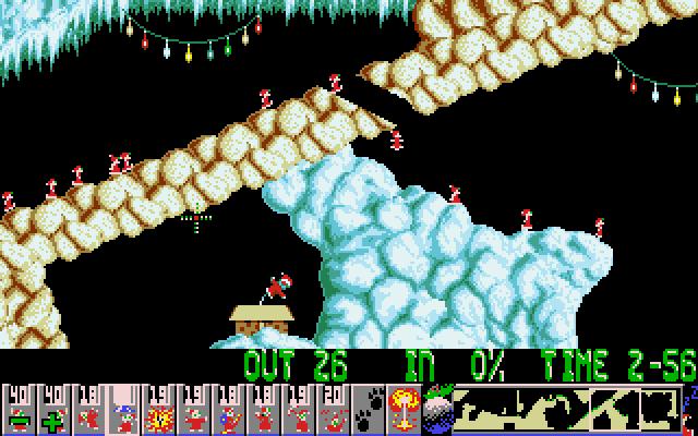 Xmas Lemmings 1991 screenshot 2