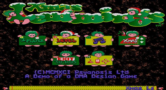 Xmas Lemmings 1991 screenshot 3